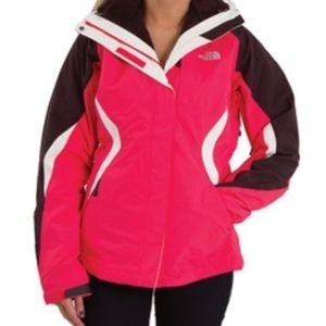 NORTH FACE pink Boundary Triclimate jacket